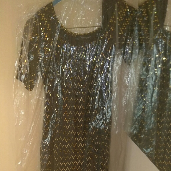 Ashley Stewart Dresses & Skirts - Black and Gold Dress